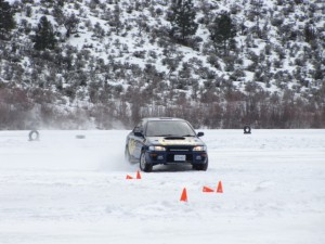 GC Impreza on King and KYB ice rallycross