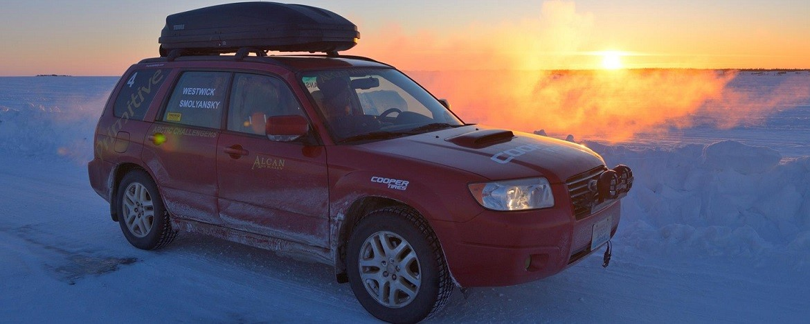 Forester On Ice Lake
