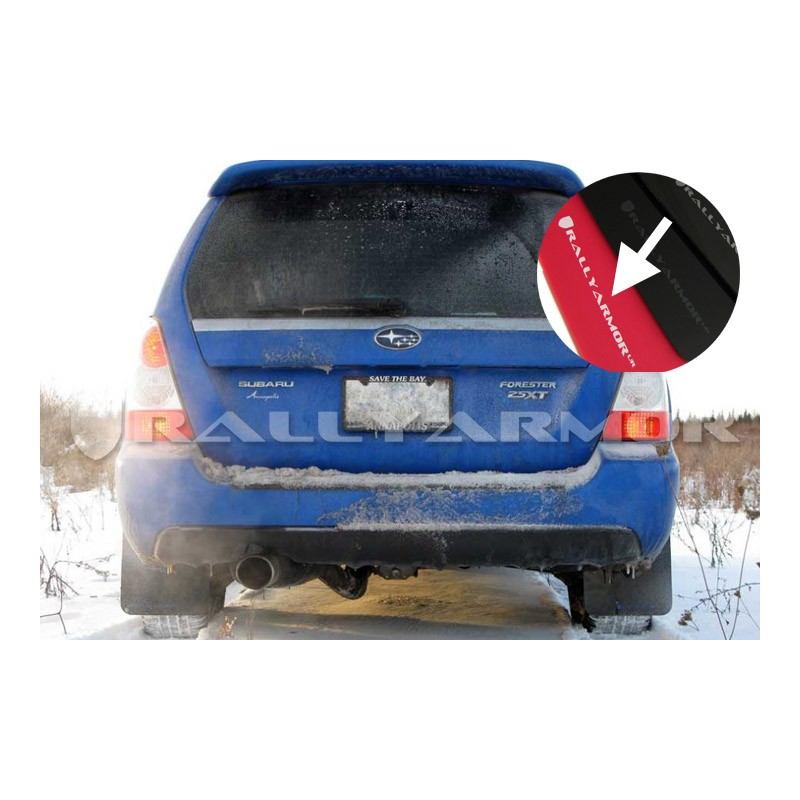 Rally Armor Black Mud Flap w// Red Logo For 03-08 Subaru Forester
